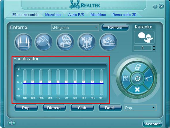 Adminitrador de sonido Realtek